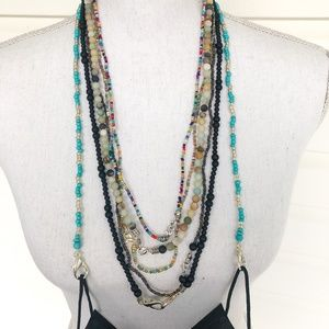 Face Mask Chain | Multi Colored Handmade Beaded